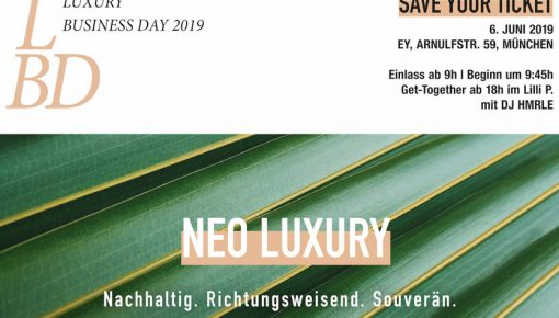 SAVE YOUR TICKET: LBD Luxury Business Day 2019